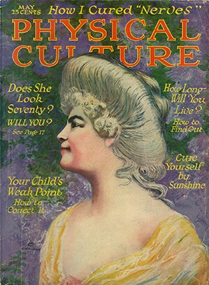 May 1920 cover of Physical Culture | Ball State University Digital Media Repository