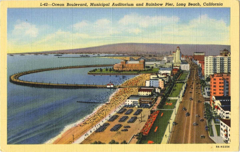Rainbow Pier postcard