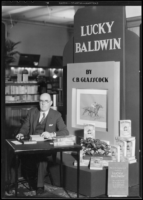 Author C.B. Glasscock at a 1933 book signing. Image: Courtesy of USC Digital Archives