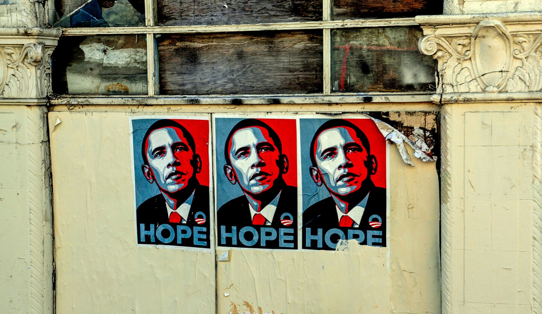 "Barack Obama ""Hope"" Poster.   Photo: Kent Kanouse/Flickr/Creative Commons License"