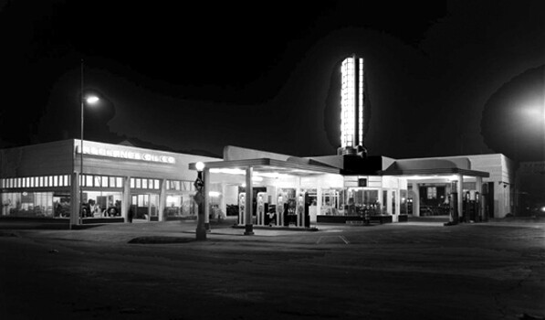 Wilson's Service Station in Redlands (Call number: 02 - 19595; Date: 10/21/1936) by G. Haven Bishop