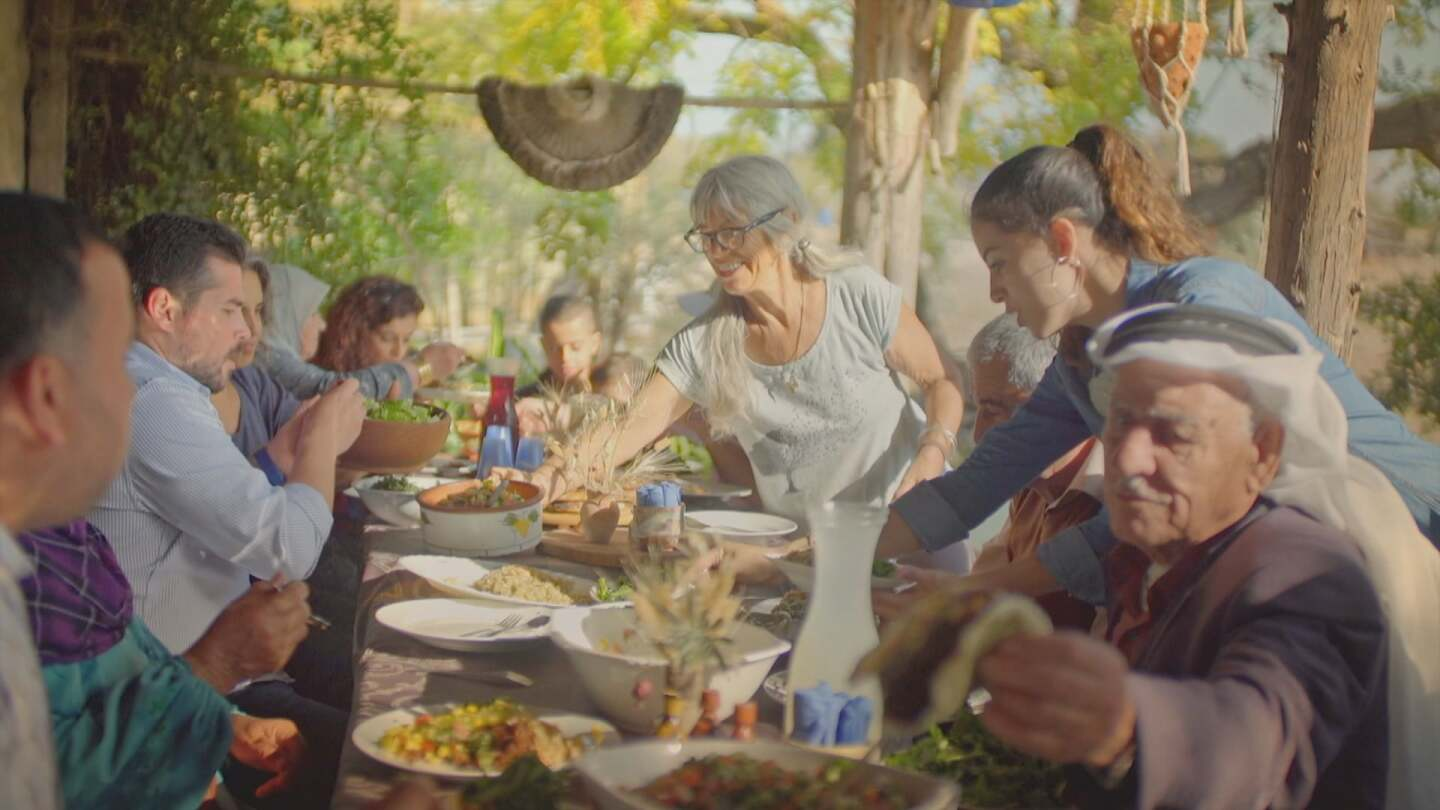 "Still from ""Meals Ready to Eat."" Olive farm in Israel."