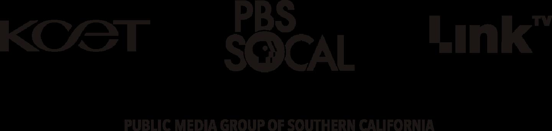 Logo Trio Lockup - KCET, PBS SoCal, Link TV