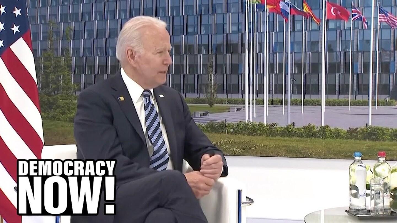 President Biden speaks in Brussels.