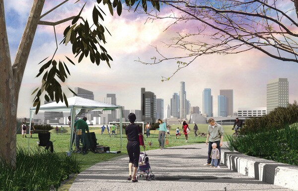 Rendering for 'Piggyback Yard' | Image: Perkins+Will/Friends of the L.A. River