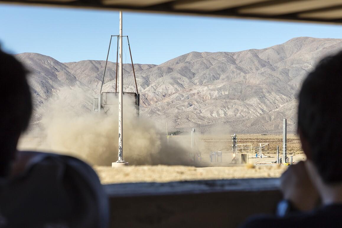 A static engine firing test conducted at FAR, Cantil, CA (2015). | Kim Stringfellow
