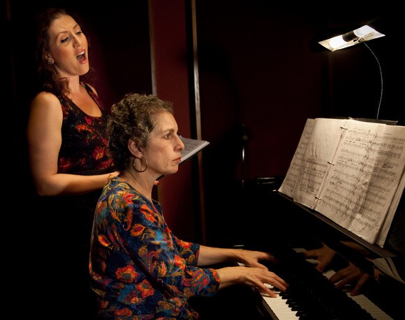 "Soprano Jamie Chamberlin and pianist Victoria Kirsch perform a selection from Mark Abel's album ""Terrain of the Heart."" 