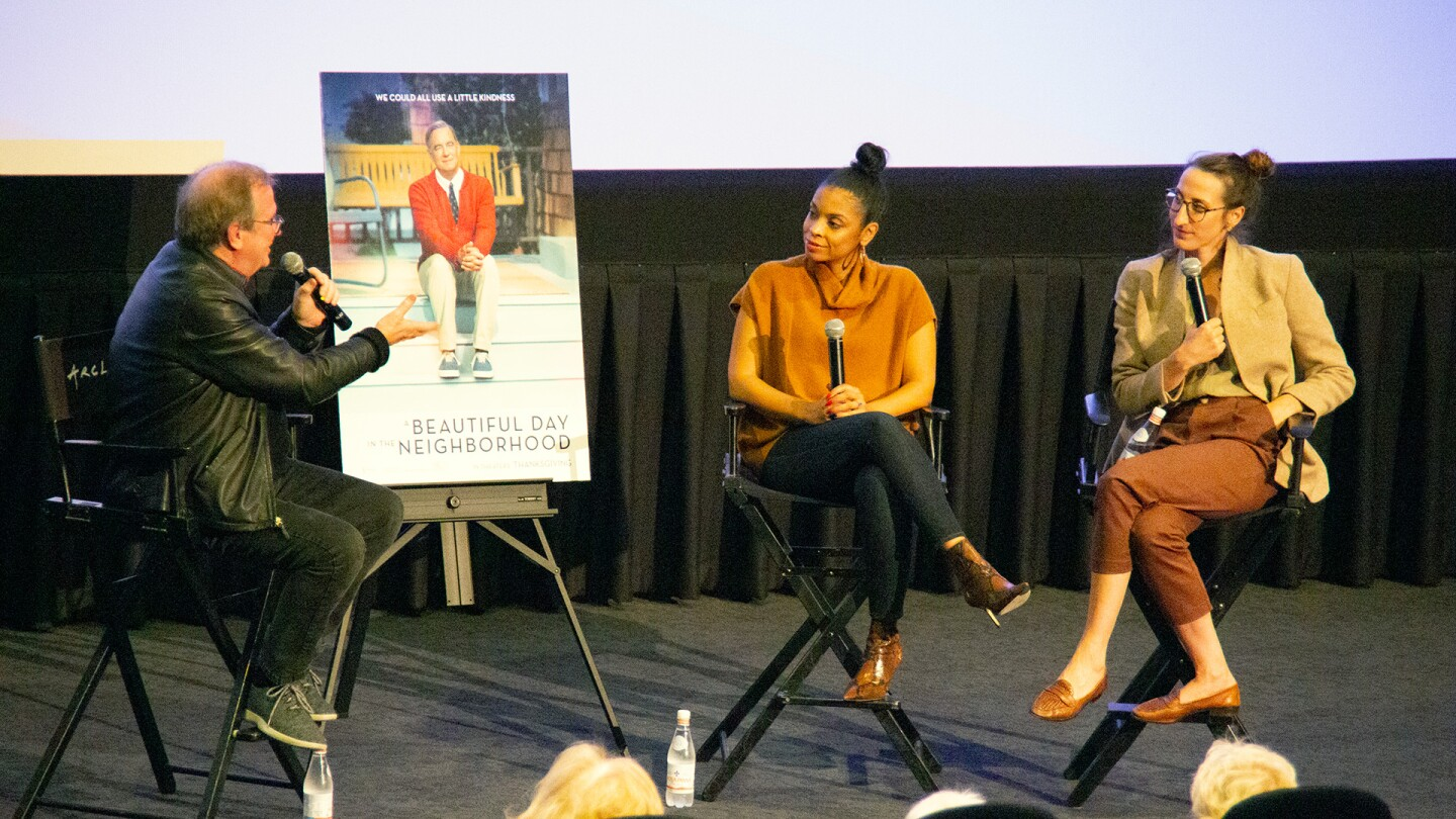 KCET Cinema Series host Pete Hammond engaged in a discussion about the film with actor Susan Kelechi Watson and production designer Jade Healy.