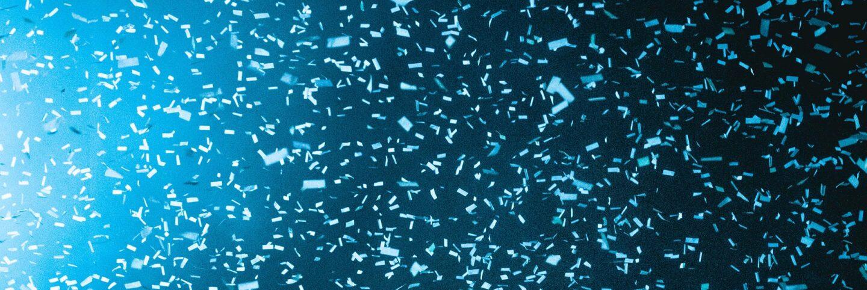 Blue lights with confetti   Jordon Conner / Unsplash