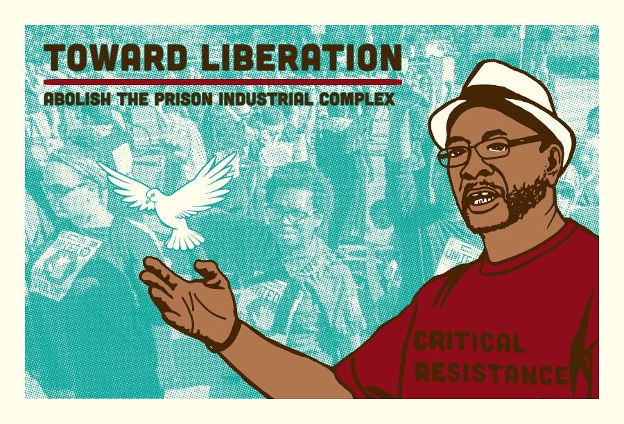 Critical Resistance postcard by Melanie Cervantes