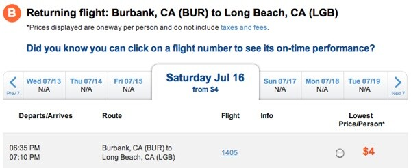 Flight 405 for $4