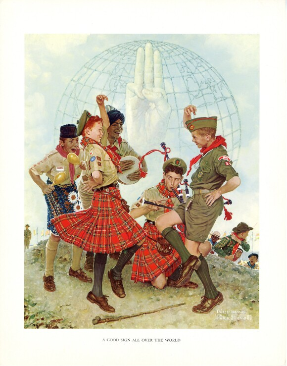 """""""A Good Sign All Over The World,"""" Norman Rockwell. 