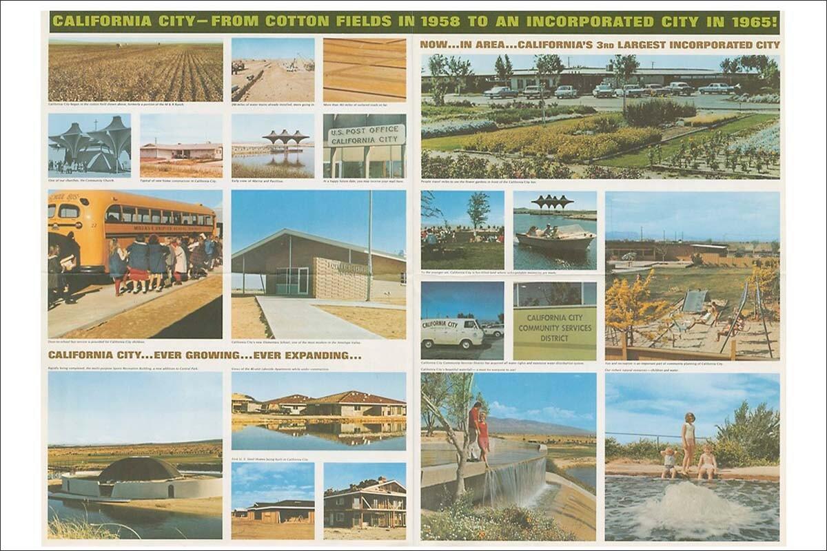 A print advertisement for California City. Circa 1965.   Smith & Williams records, Architecture and Design Collection. Art, Design & Architecture Museum; University of California, Santa Barbara