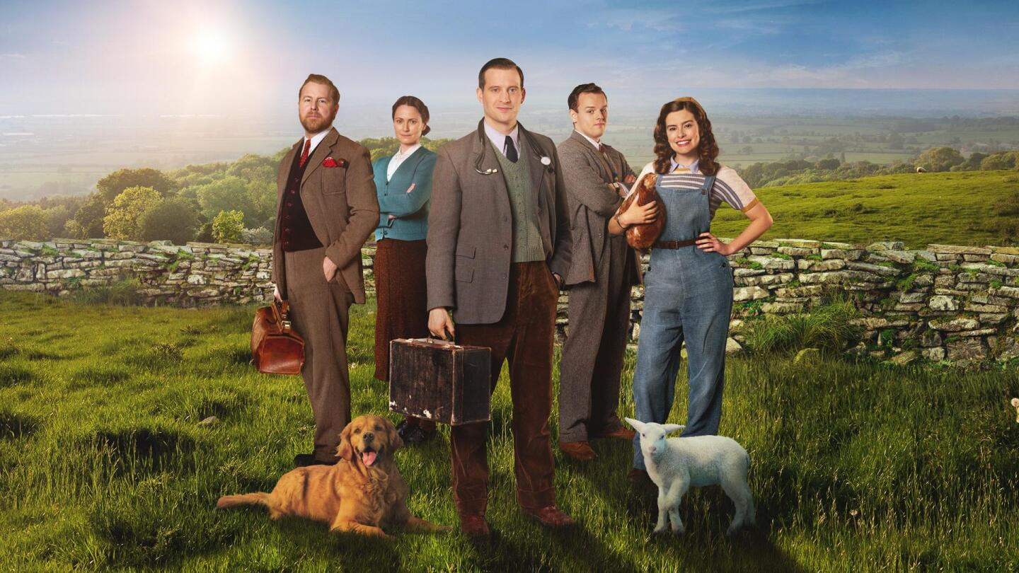 "Cast of ""All Creatures Great and Small"" in key art."
