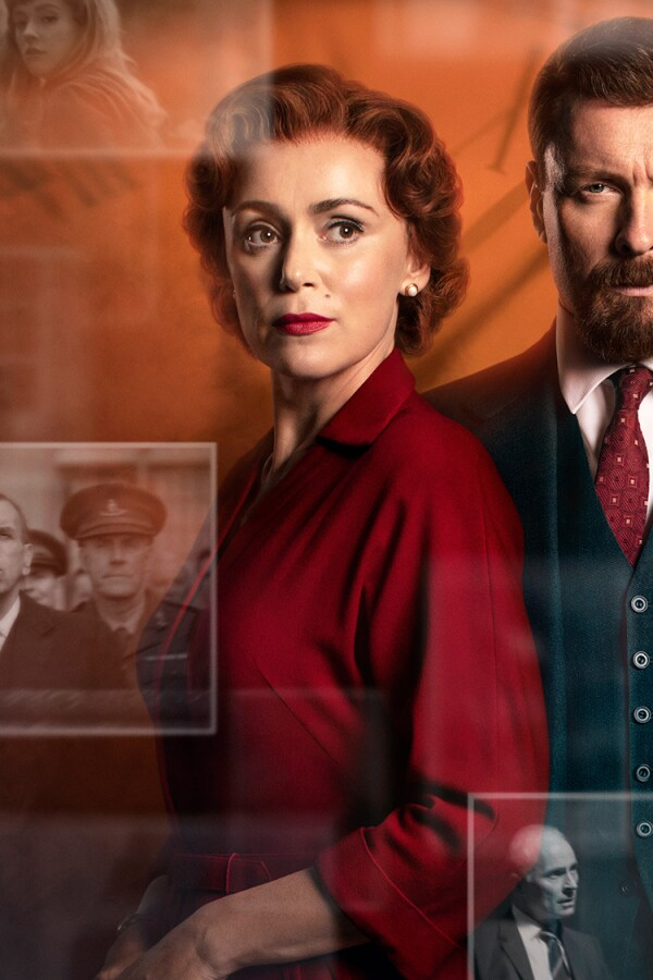 "Key Art of ""Summer of Rockets"" featuring Keeley Hawes and Toby Stephens."