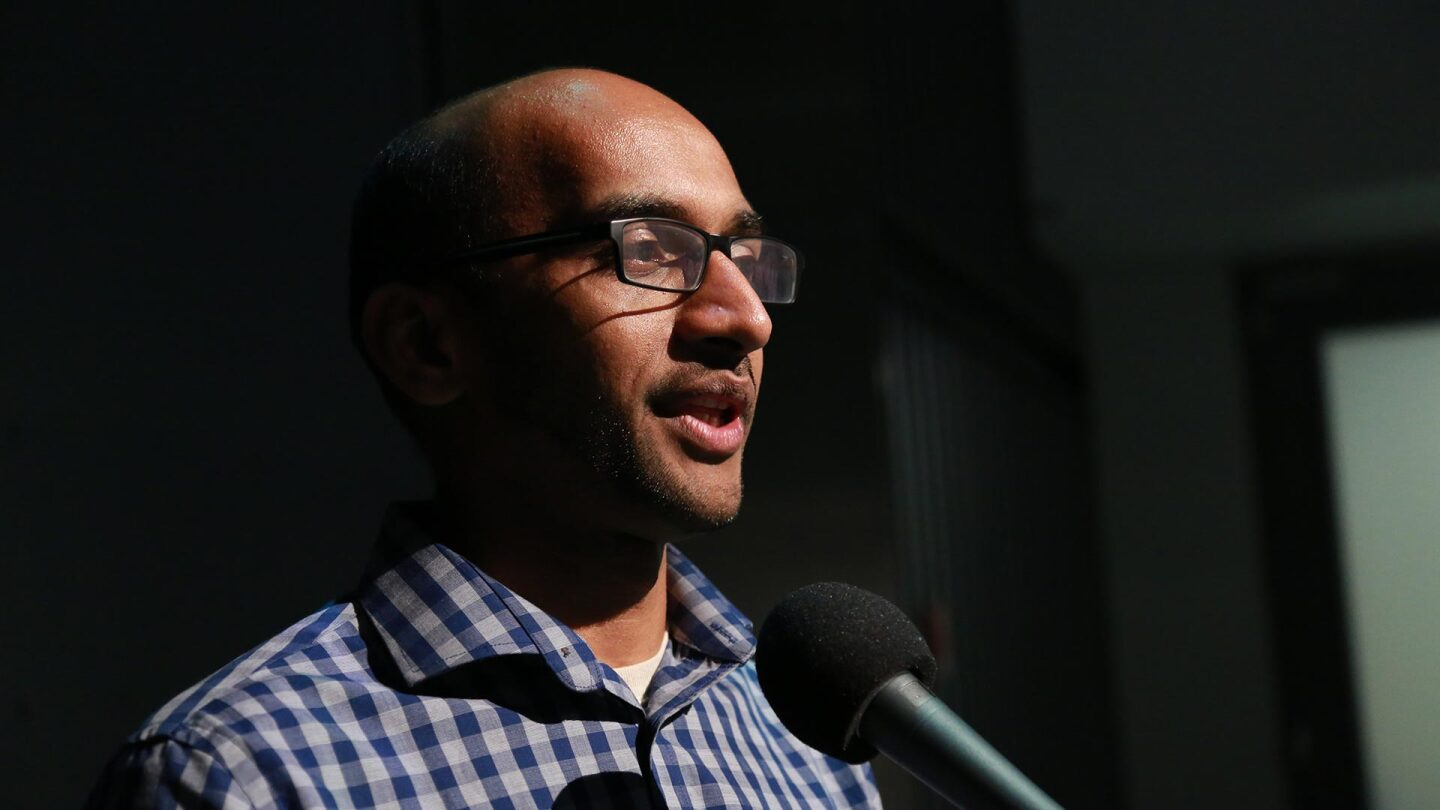 "Abhishek Shah discusses how he became a meat-eating American on ""Stories from the Stage: Suitcase Stories (Part 2)."""