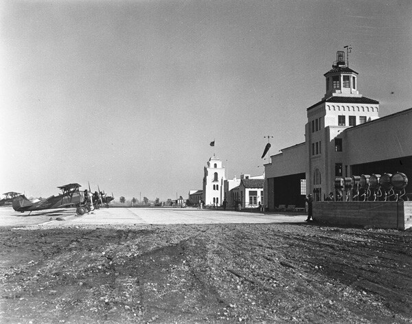 Mines Field, known today as Los Angeles International Airport, circa 1930. Courtesy of the Title Insurance and Trust / C.C. Pierce Photography Collection, USC Libraries.