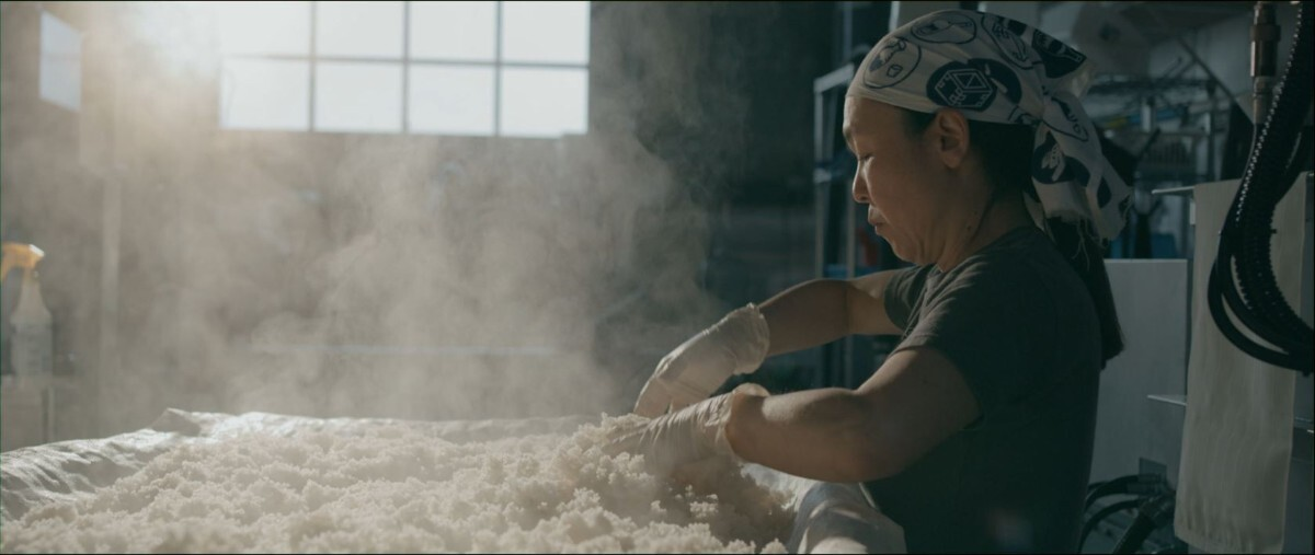 "Noriko Kamei   Still from ""The Migrant Kitchen"" Sequoia Sake MKs3"