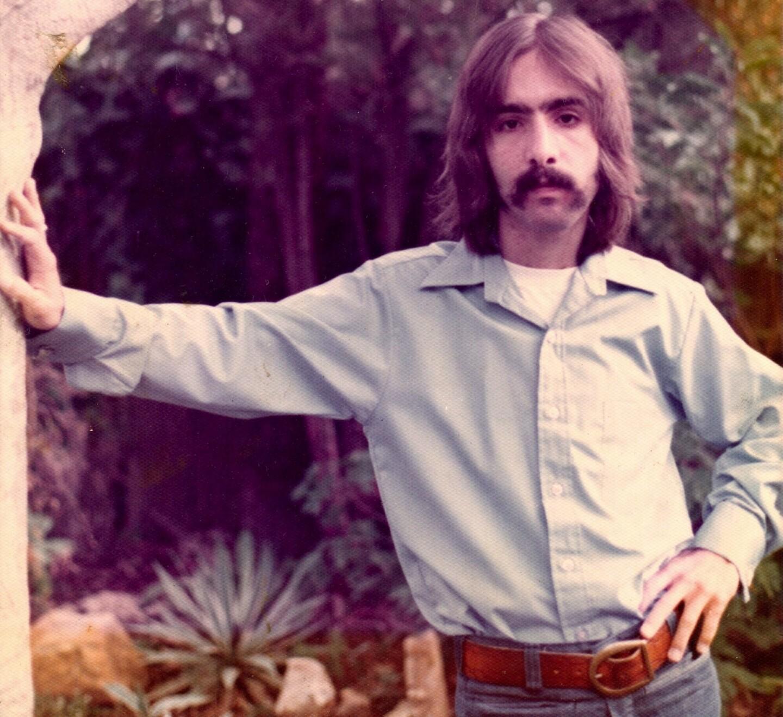 Steven J. Salazar in the trees, 1973.