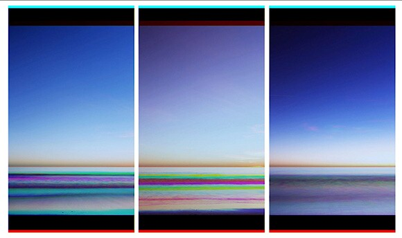 """Tom Turner """"The Color of Memory: Santa Monica Color Experiment,"""" 2014 HD - 1080 x 1920 px Single Channel Video - 7:07"""