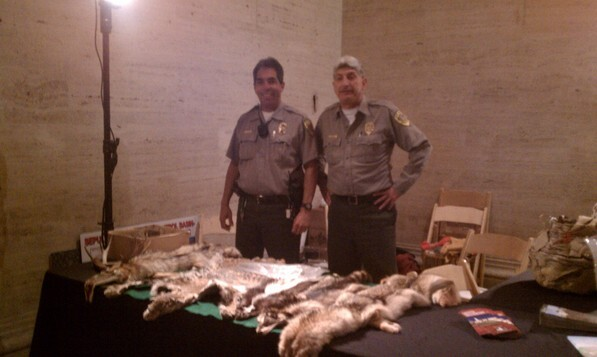 Rangers with the LA City Dept. of Parks and Recreation teach about local animals