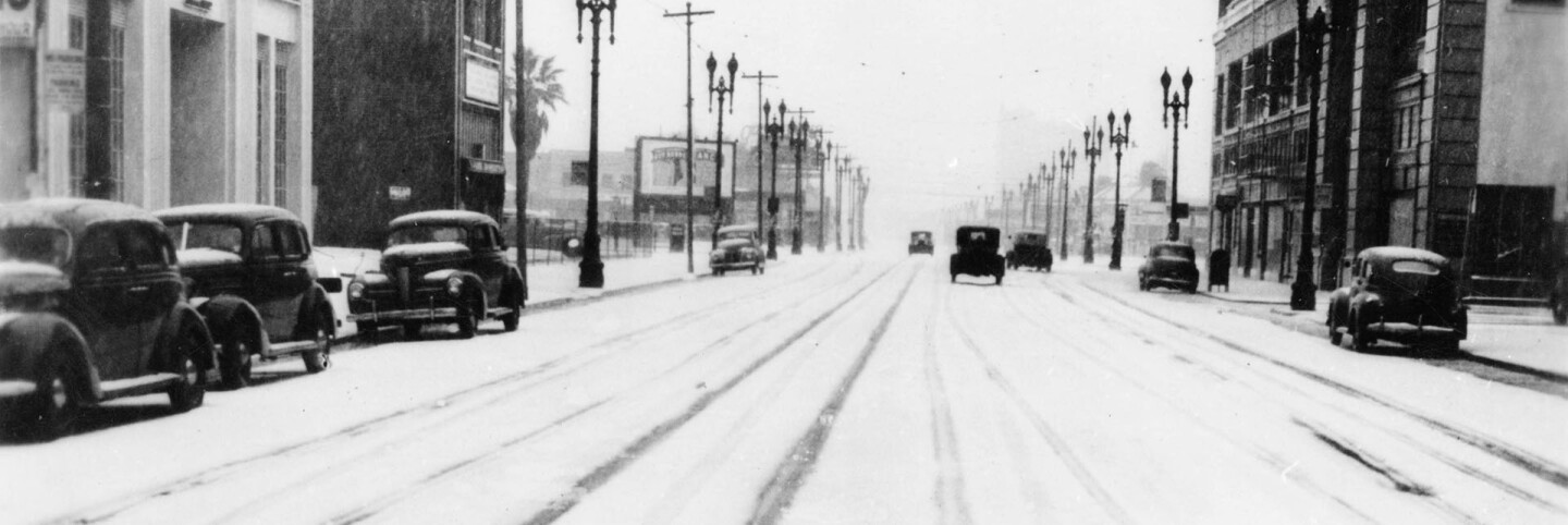 Snow on Broadway, Los Angeles, 1944