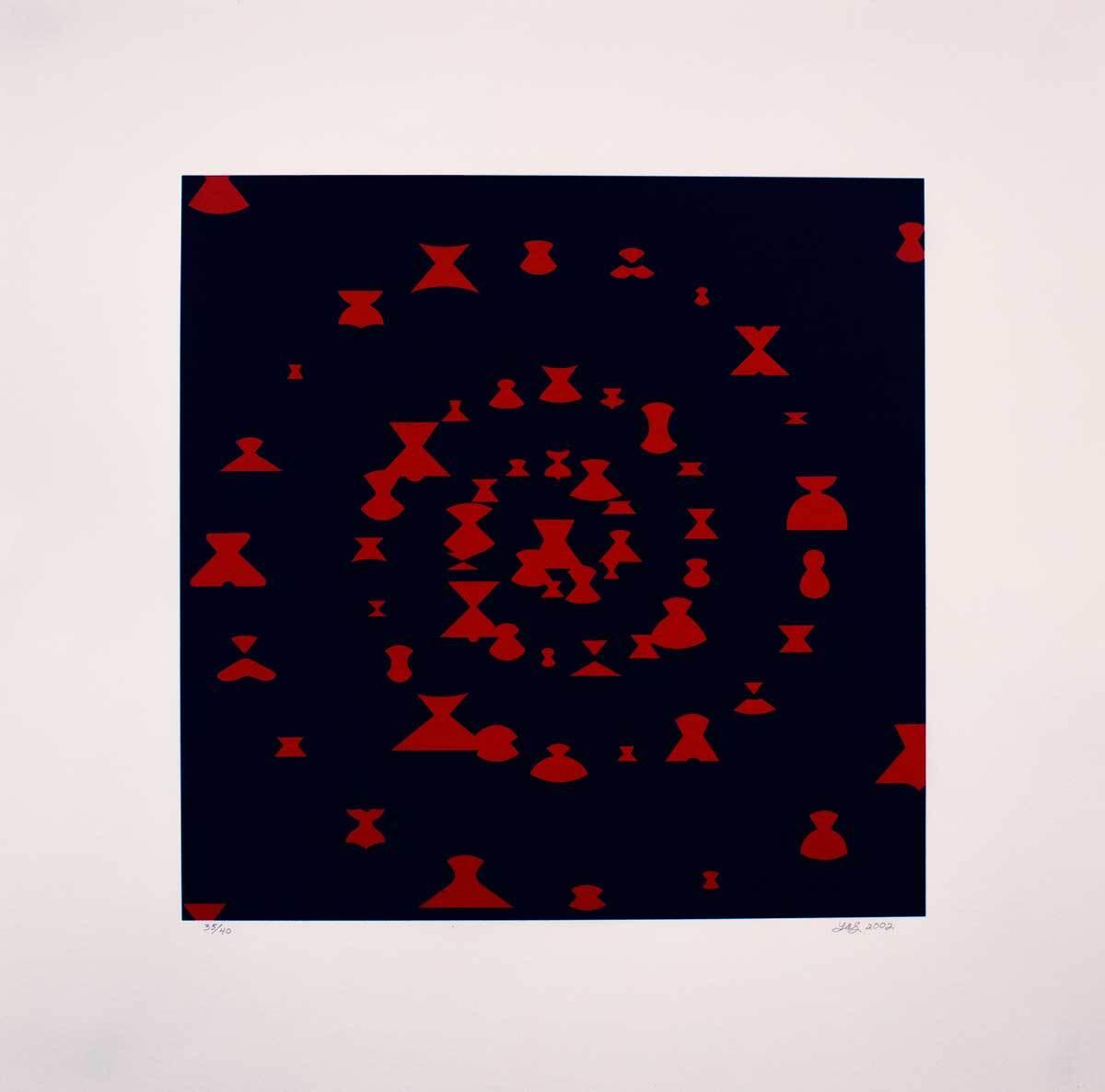 "Linda Stark, ""Black Widow Society,"" 2002 Lithograph   Courtesy of El Nopal Press"