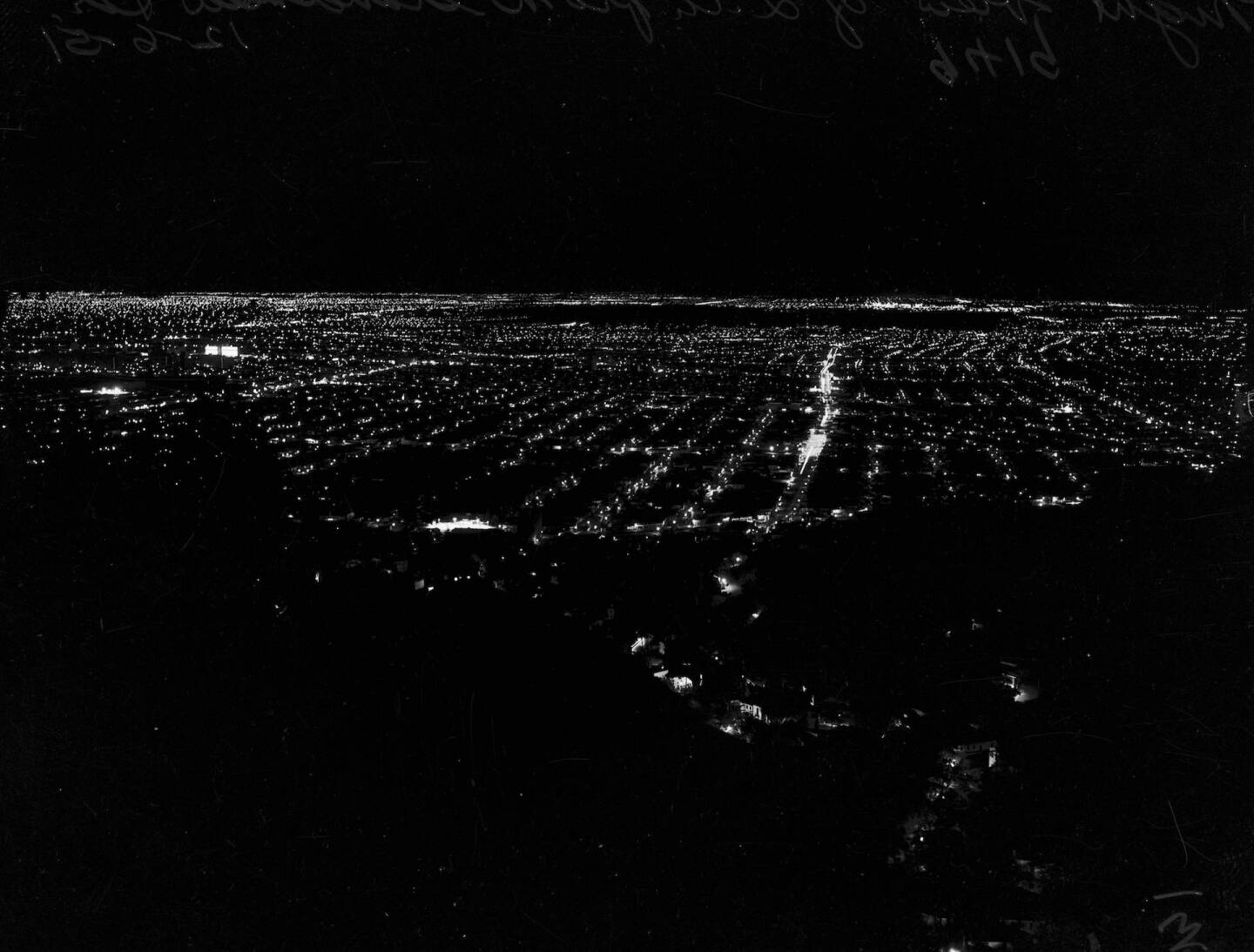 Los Angeles from Grandview Drive, 1951