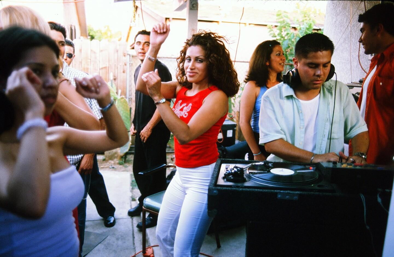 Dancing at a summer party
