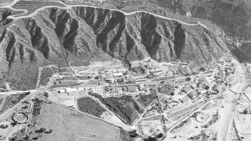Then: JPL from above in 1950. | NASA/JPL-Caltech