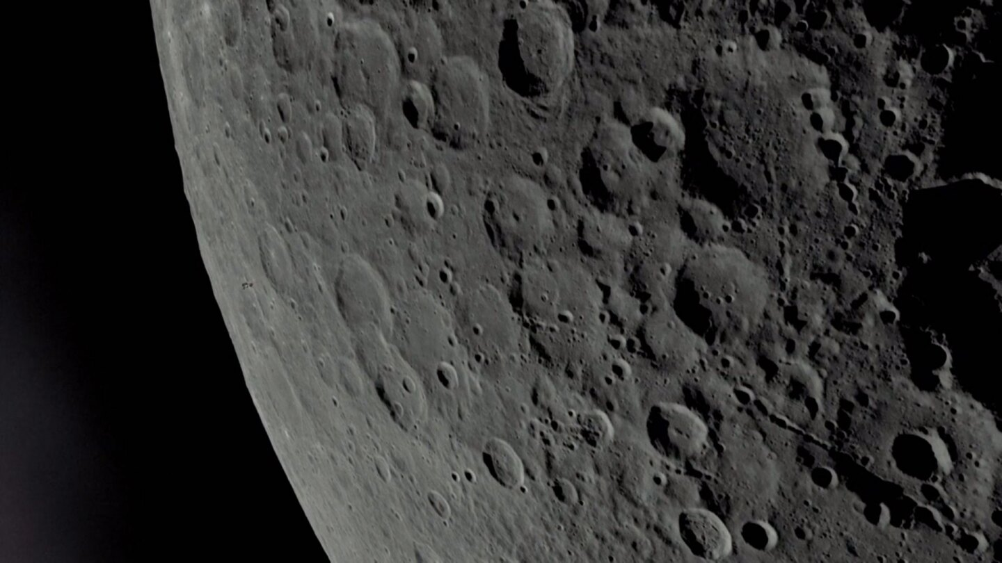 "Lunar craters | Still from ""8 Days: To the Moon and Back"""