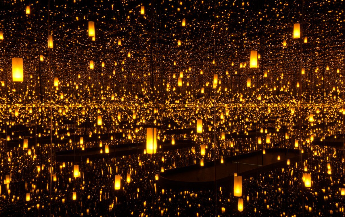 Yayoi Kusama, Aftermath of Obliteration of Eternity, 2009, at the Hirshhorn Museum and Sculpture Garden | Cathy Carver , Collection of the artist. Courtesy of Ota Fine Arts, Tokyo/Singapore; Victoria Miro, London; David Zwirner, New York. © Yayoi Kusama