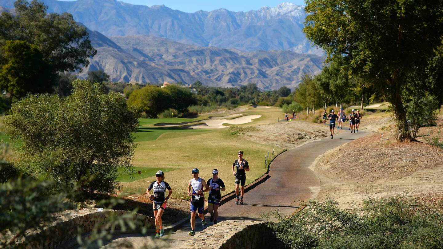 Run course of a sports event in Indian Wells.