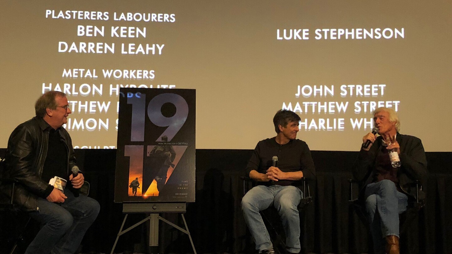 Cinematographer Roger Deakins and film composer Thomas Newman share inside stories on the making of '1917' with KCET Cinema Series members during the Q&A.