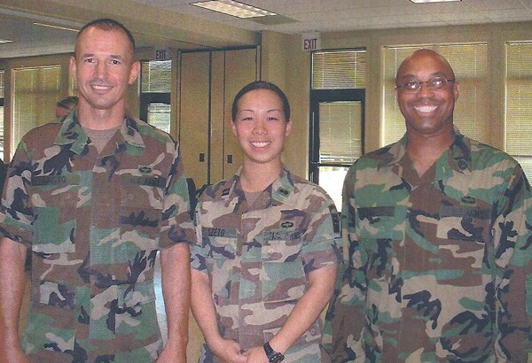 Captain See-wan Szeto (center) at Ft. Bragg, North Carolina in 2004. | Photo Courtesy: See-wan Szeto