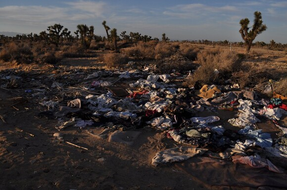 Illegal waste in the Antelope Valley. | Photo courtesy of DEHSART.