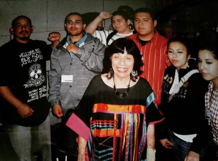 Betita Martinez with Bay area youth leaders | Courtesy of Nancy Hernandez