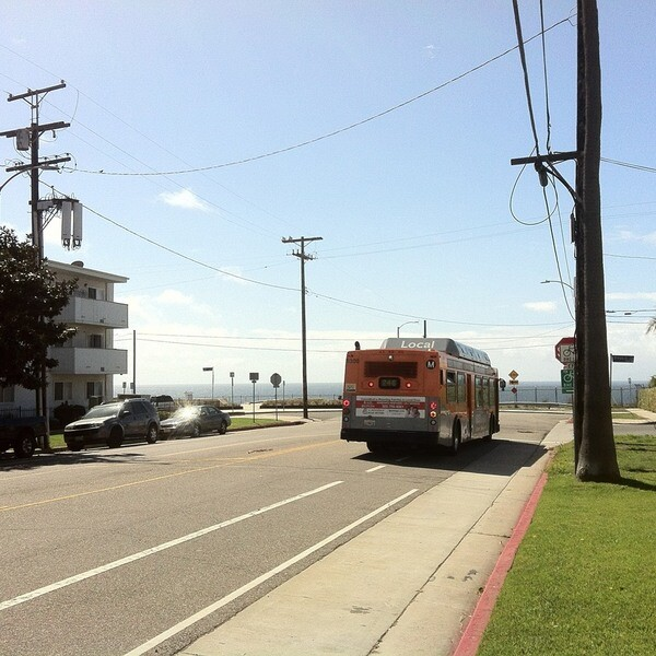 Metro Bus near Cabrillo Beach