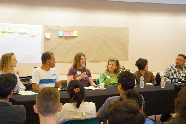 Panelists from left to right: Melanie Winter, Aaron Thomas, Carol Armstrong, Mia Lehrer, and Pauline Louie--Photo: Daniel Hanaya
