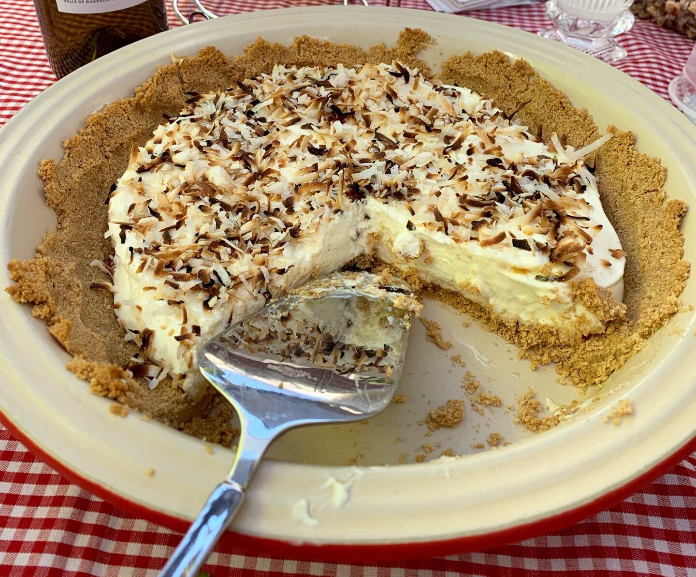 Coconut cream pie. | VIctoria Gonzalez