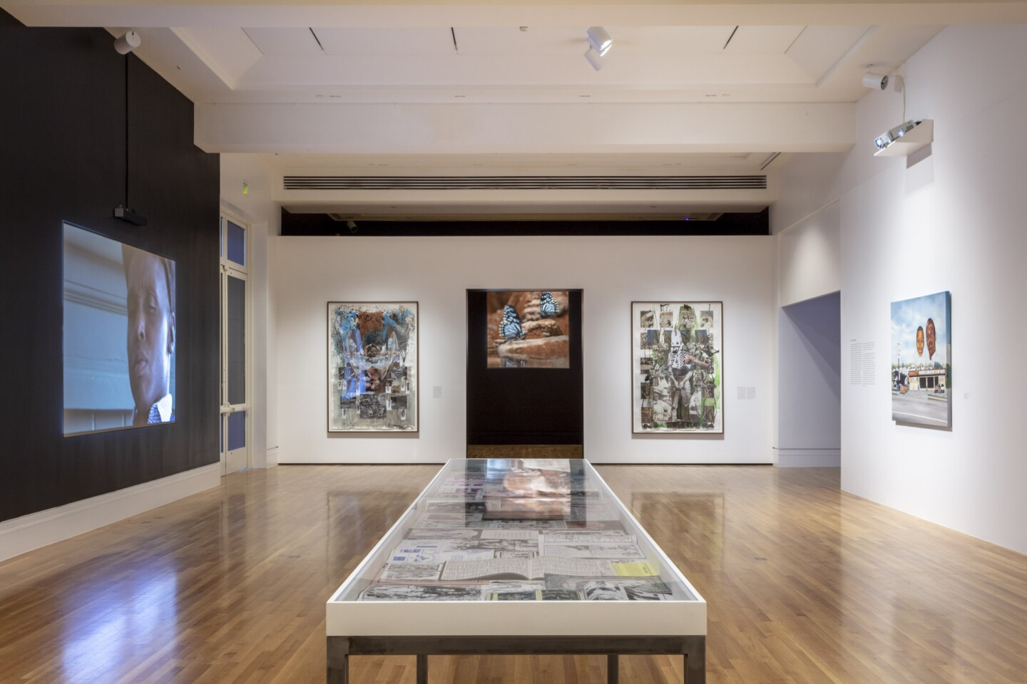 "An installation view of Mario Ayala's work at ""Made in L.A. 2020: a version"" at The Huntington Library, Art Museum, and Botanical Gardens, San Marino. 