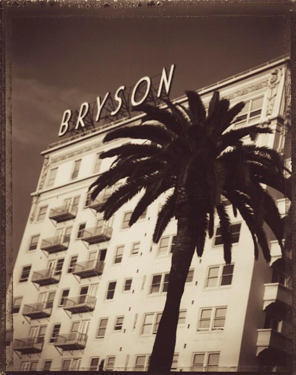 The Bryson Apartments, MacArthurPark, LosAngeles, 1998. T-55 4 x 5 Polaroid. | Photo: Jim McHugh.