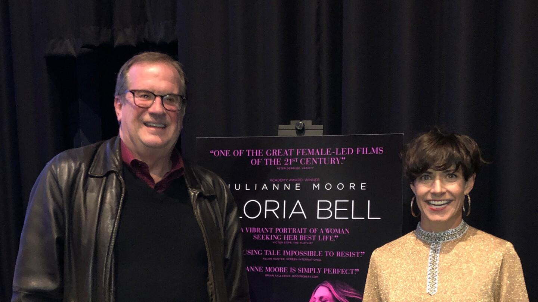 "Cinema Series host Pete Hammond and Screenwriter Alice Johnson Boherafter a screening of ""Gloria Bell"""