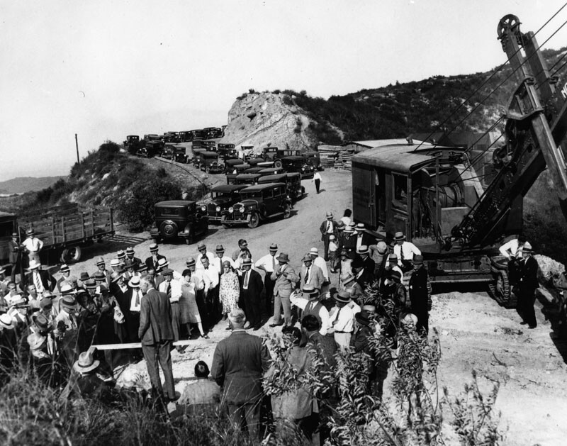 Groundbreaking for Sepulveda Blvd. through Sepulveda Pass (1929)