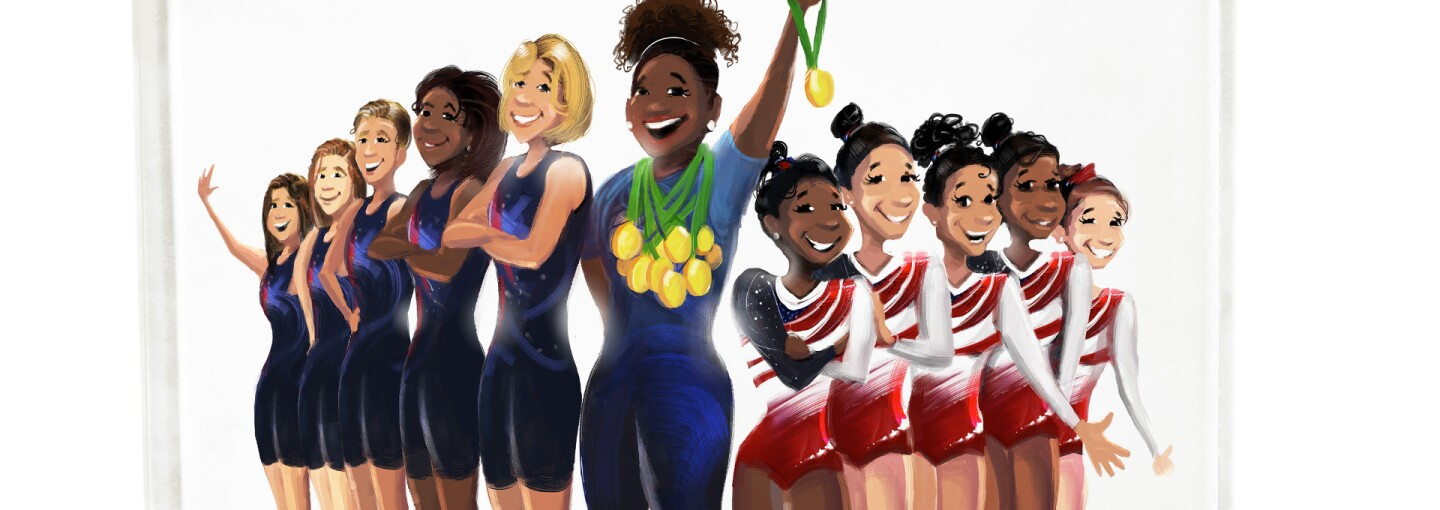 """""""The Golden Girls of Rio,"""" a book by Nikkolas Smith, puts female athletes front and center."""