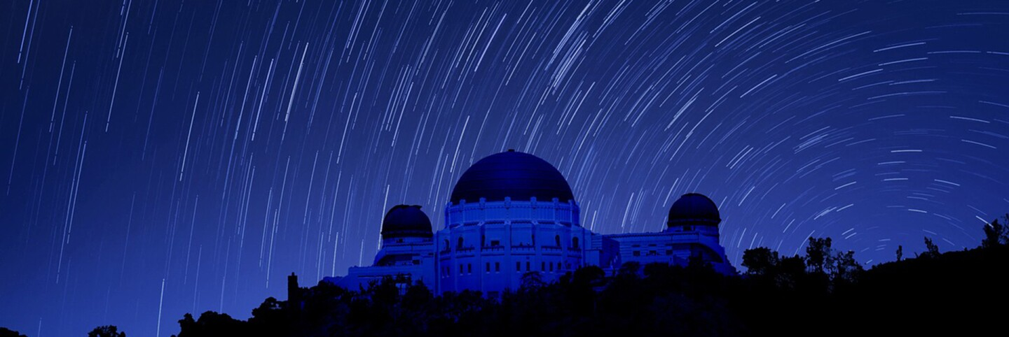 Griffith Observatory at night. | mimoulamiou/Needpix