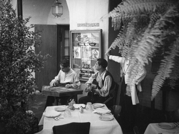 Musicians at Cafe Caliente | Courtesy of LAPL.