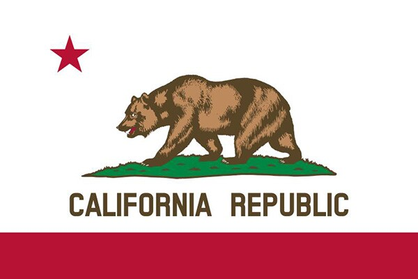 Monarch's likeness on the California state flag.