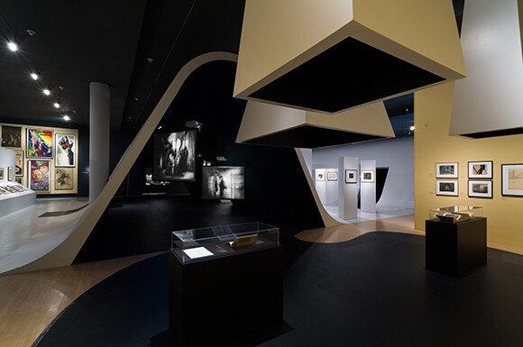 """Installation view, """"Haunted Screens: German Cinema in the 1920s,"""" September 21, 2014-April 26, 2015, Los Angeles County Museum of Art 