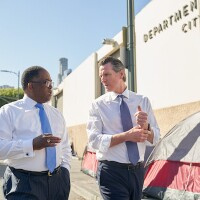 L.A. Supervisor Mark Ridley-Thomas and Gavin Newsom